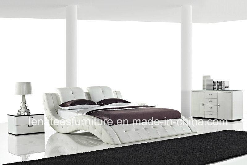 A506 chambre coucher mobilier moderne de lit en cuir for Mobilier de chambre moderne