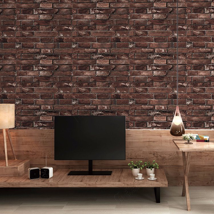 Hot Sale Wall Decoration Modern 3D Brick Wallpaper