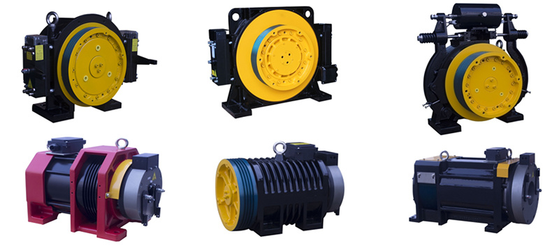 Gearless Traction Machine for Elevator/Lift (WTD1-B630)