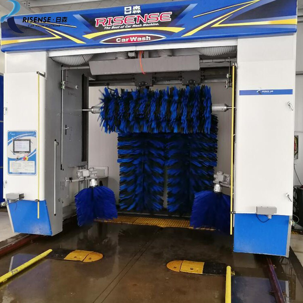 rollover car wash with 5 brushes