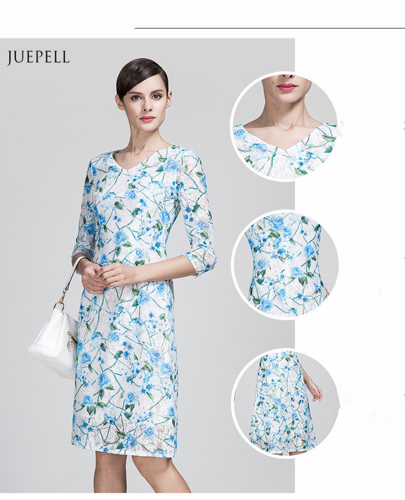 Fashion Floral Print Woven Material Old Lady Dress Elegant - China ... 4746e87ae