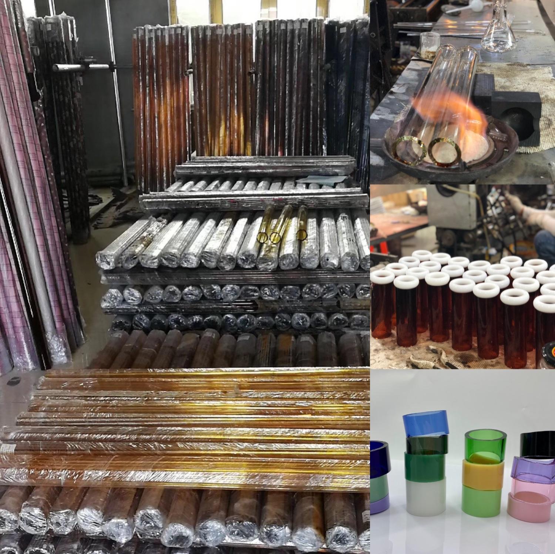 2019 New Water Pipe Hbking Glass Water Pipe Wholesales Smoking Pipe Oil Rig Glass Smoking Pipe Hand Pipe