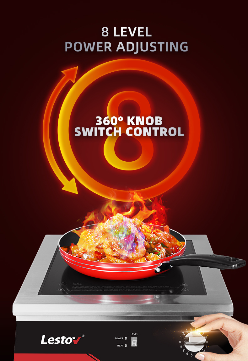 Knob Control 3500W Commercial Induction Cooker