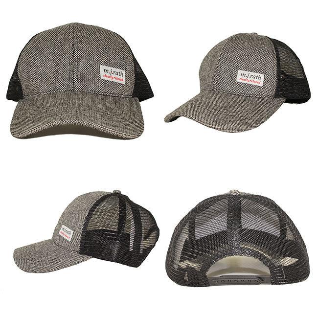 Malla posterior cáñamo personalizado camionero sombrero con etiqueta ...