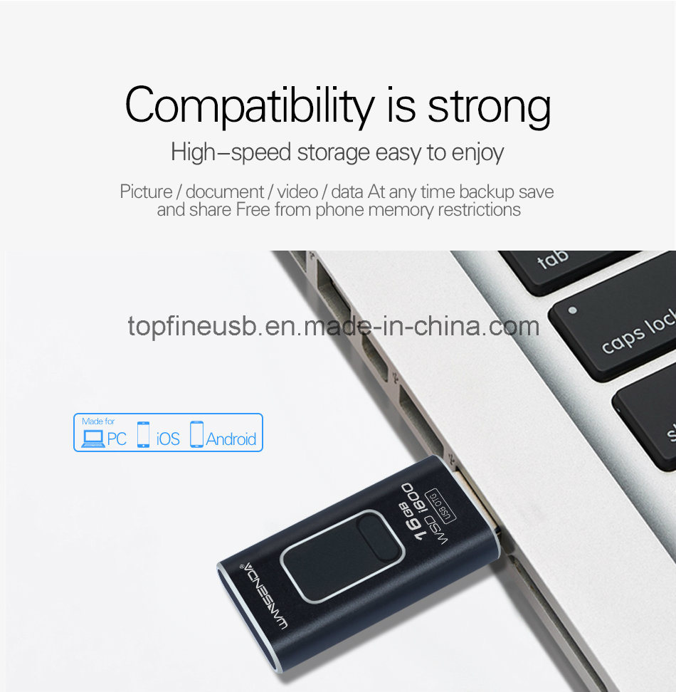 4 In 1 Otg Pen Drive Metal Usb Flash For Ios Android Tablet Pc Disk Iphone 64gb All Adndroid Type C Micro Stick 4gb 8gb 16gb 32gb