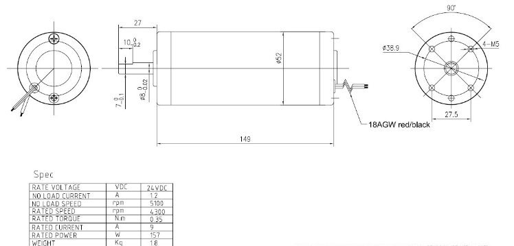 52zyt149 2451 24v 5100rpm dc motor electric motor pmdc motor china Diagram of a Battery Pack motor are available with different winding and mechanical modification to meet specific applications