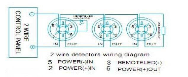2 wire conventional optical smoke detector for fire alarm (es smoke detector  battery diagram 2wire smoke detector wiring diagram