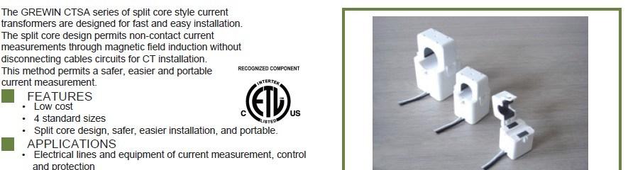 5-600A 0.333V Split Core Current Transformer