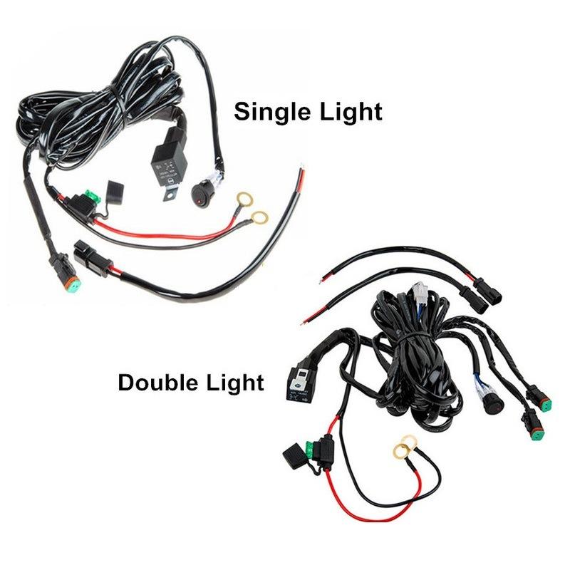auto coche el u00e9ctrico faros antiniebla faros de led de cables mediante rel u00e9 y el interruptor on