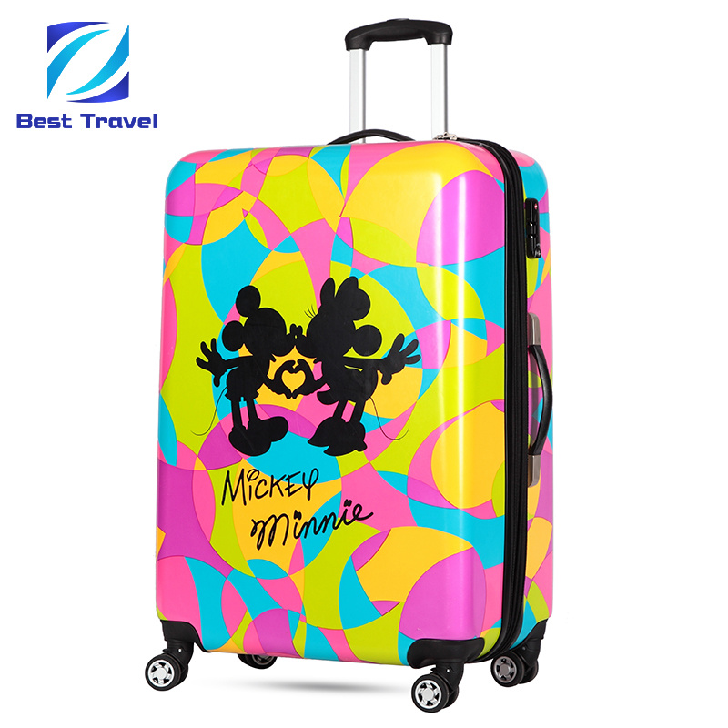 491297504 SGS Approved Manufacturer OEM Print Suitcase ABS/PC Printed Trolley ...