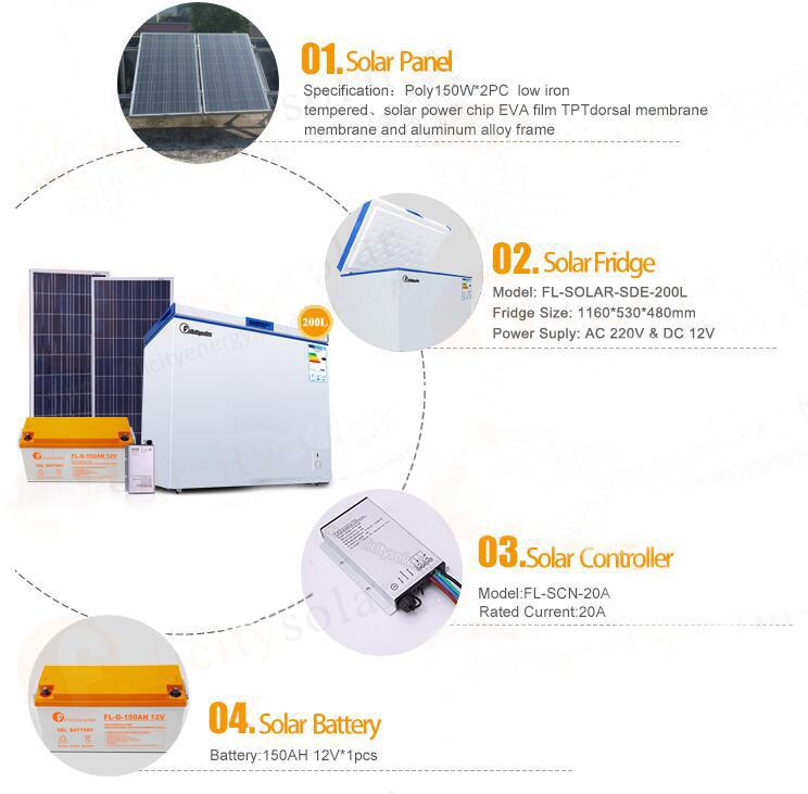 r frig rateur solaire 200 litres cong lateur solaire avec longue dur e de vie r frig rateur. Black Bedroom Furniture Sets. Home Design Ideas