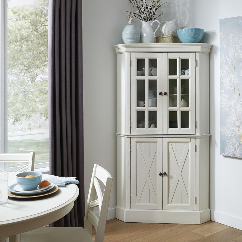 Modern Antique Furniture White Painting, White Dining Room Storage Cabinet