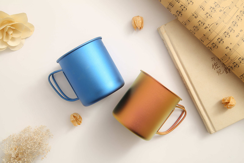 [Hot Item] 2018 Newest Design Drop-Proof Single Wall Titanium Metal Cup for  Children Kids