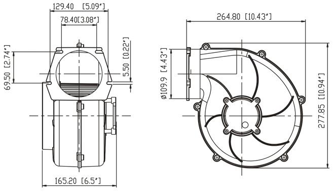 seaflo 320 cfm del motor del ventilador ventilador de 12