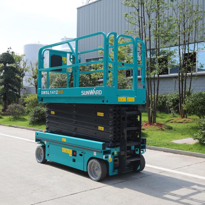 CASH COUPON SALE! Movable crawler Scissor Lift Mobile battery powered hydraulic platform