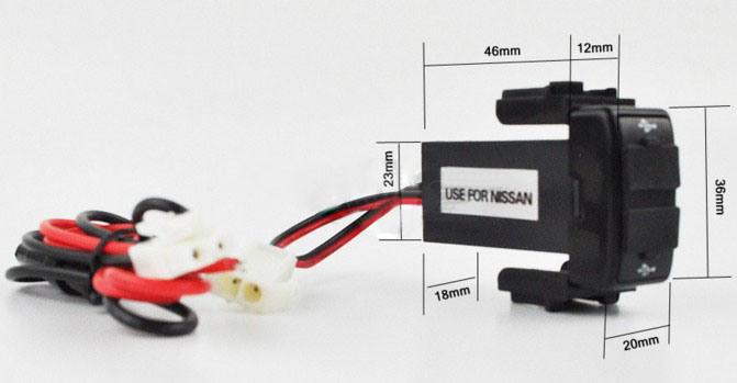 1 2a 2 1posici n original de estilo de un coche de puerto usb cargador dual socket para nissan - Instalar puerto usb en coche ...