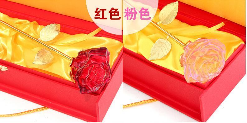 [Hot Item] Glass Rose Flower as Wedding Return Gift