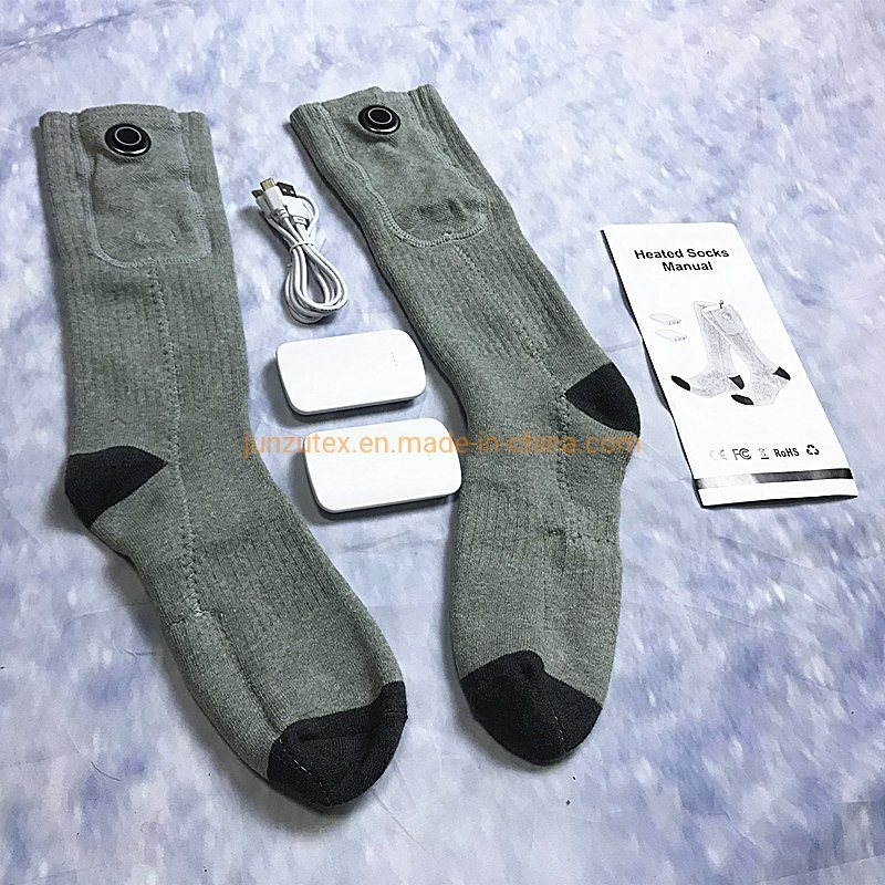 Electric Heated Socks Rechargeable Battery Foot Winter Warmer Thermal Sock