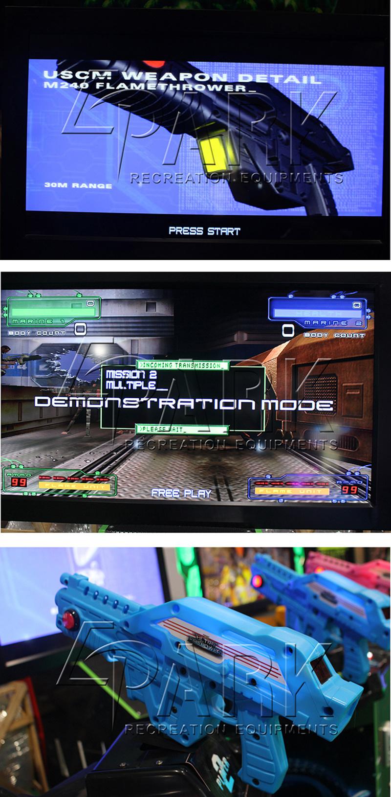 [Hot Item] Epark New Arrival 42''inch Aliens Shooting Arcade Simulator Game  Machine