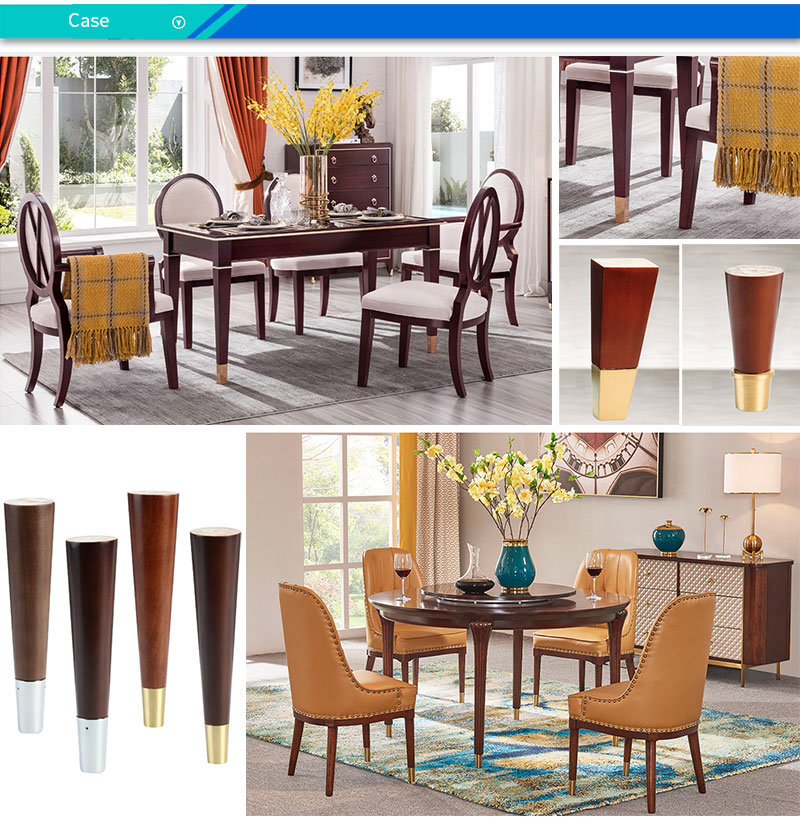 Modern Gold Brass Dining Table Chair, Dining Room Chair Foot Pads