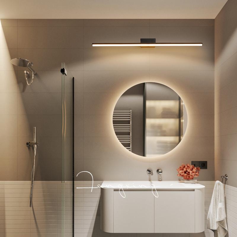 Led Mirror Lamp Bathroom Nordic Modern, Wall Mirror Lights Bathroom