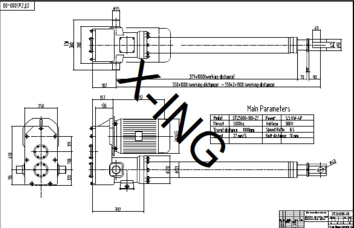 Electric Linear Actuator Motor Driven Push Rod China Drive Schematic Outline Drawing