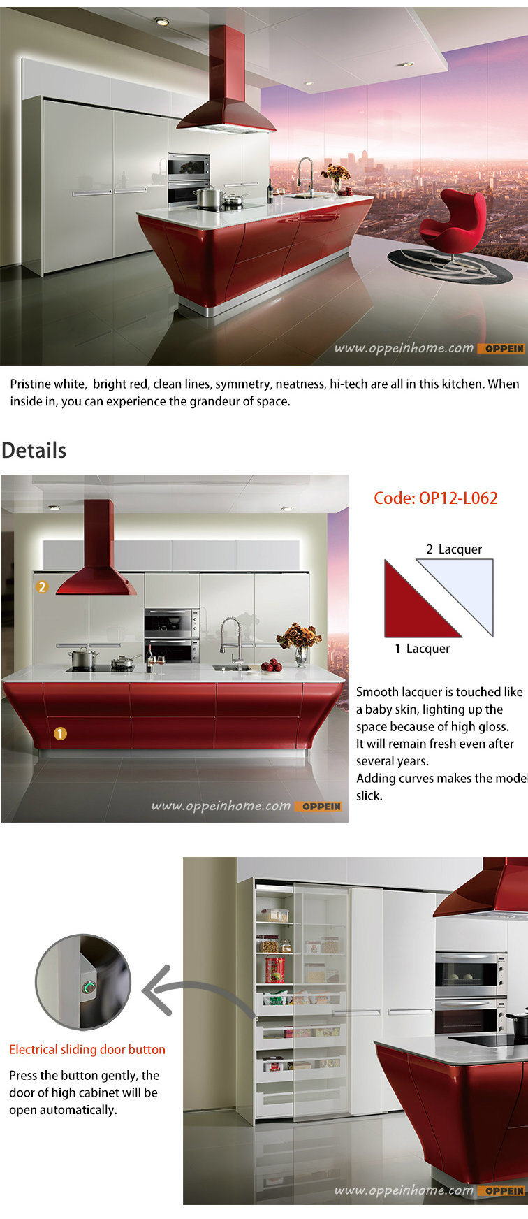 Smart expo guangzhou manufacturer oppein smart red for China kitchen cabinets manufacturers