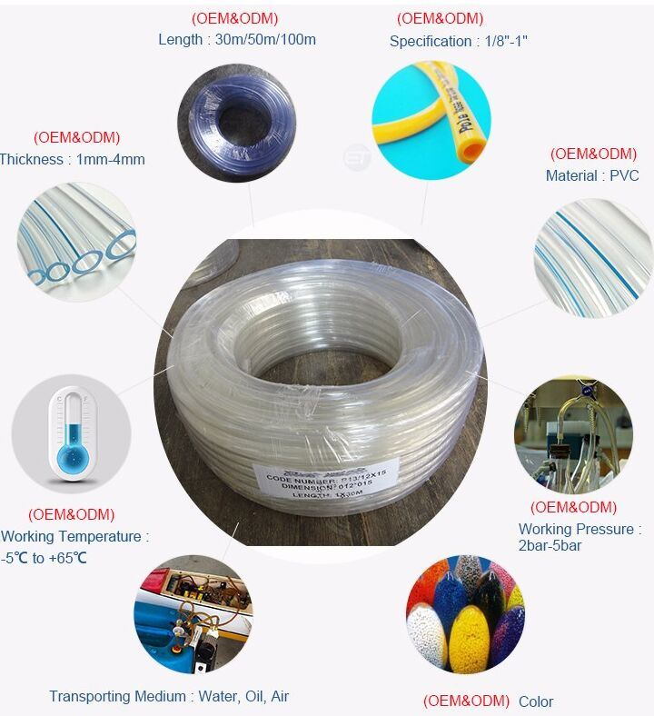 Non-Toxic PVC Clear Transparent Unreinfoced Water Level Tube Hose