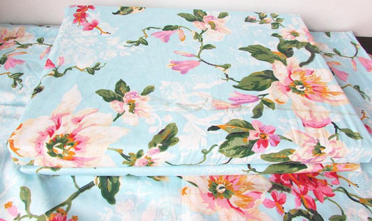 Prix bon march linge de lit en coton imprim floral pour for Household articles ltd registered design