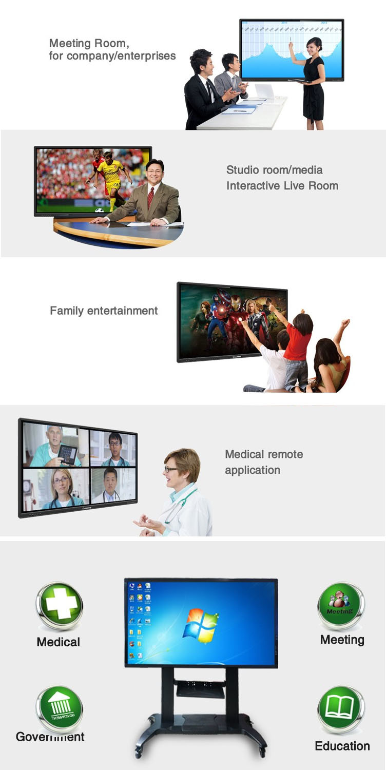 65 Inch LCD Touch Screen Interactive Smart Meeting, Office, Educational Equipment Whiteboard