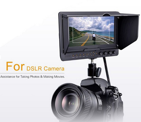 7' Camera-Top LED Monitor for DSLR & Full HD Camcorder
