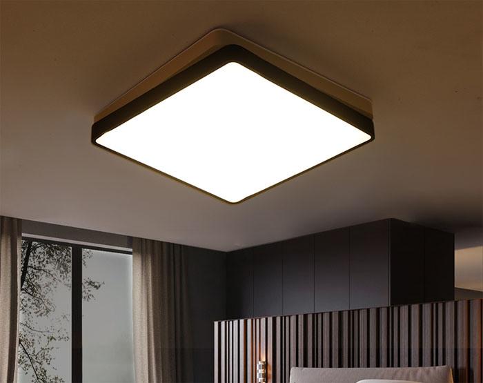 Lamp Woonkamer Plafond : Het moderne eigentijdse vierkante leidene plafond steekt de