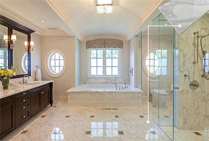 Bathroom Grade A Italian Calacatta White Marble Floor Tiles China