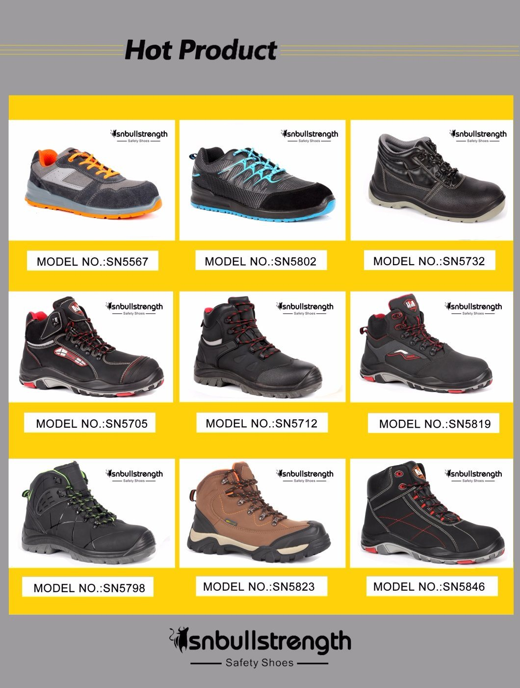 Men Shoes Black Cow Suede Leather Safety Shoes Industrial Security Working Footwear with Steel Toe Cap Factory Price High Quality China Sn5661