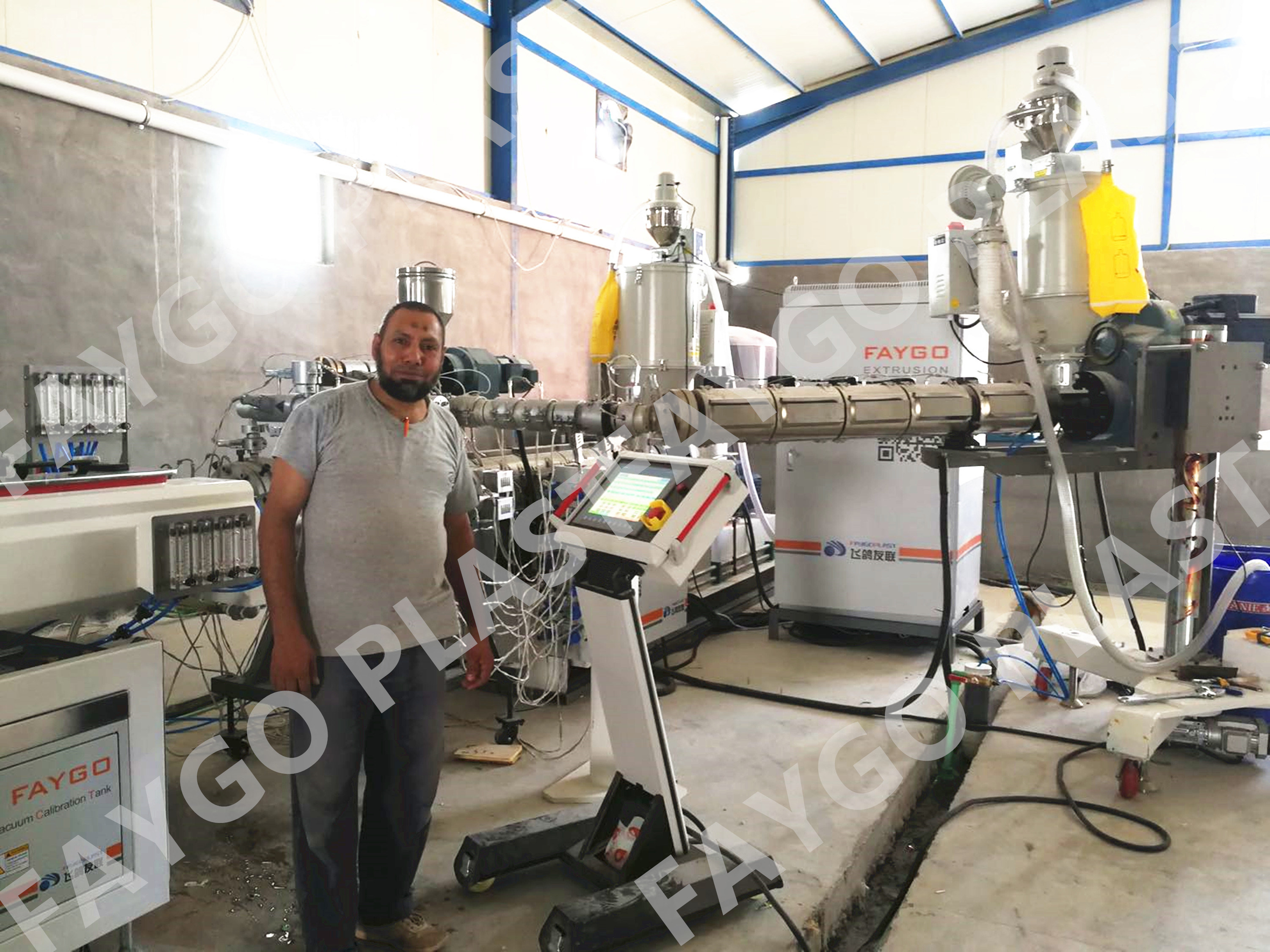 HDPE PP Pipe Making Machine / PE Pipe Extrusion Production Line