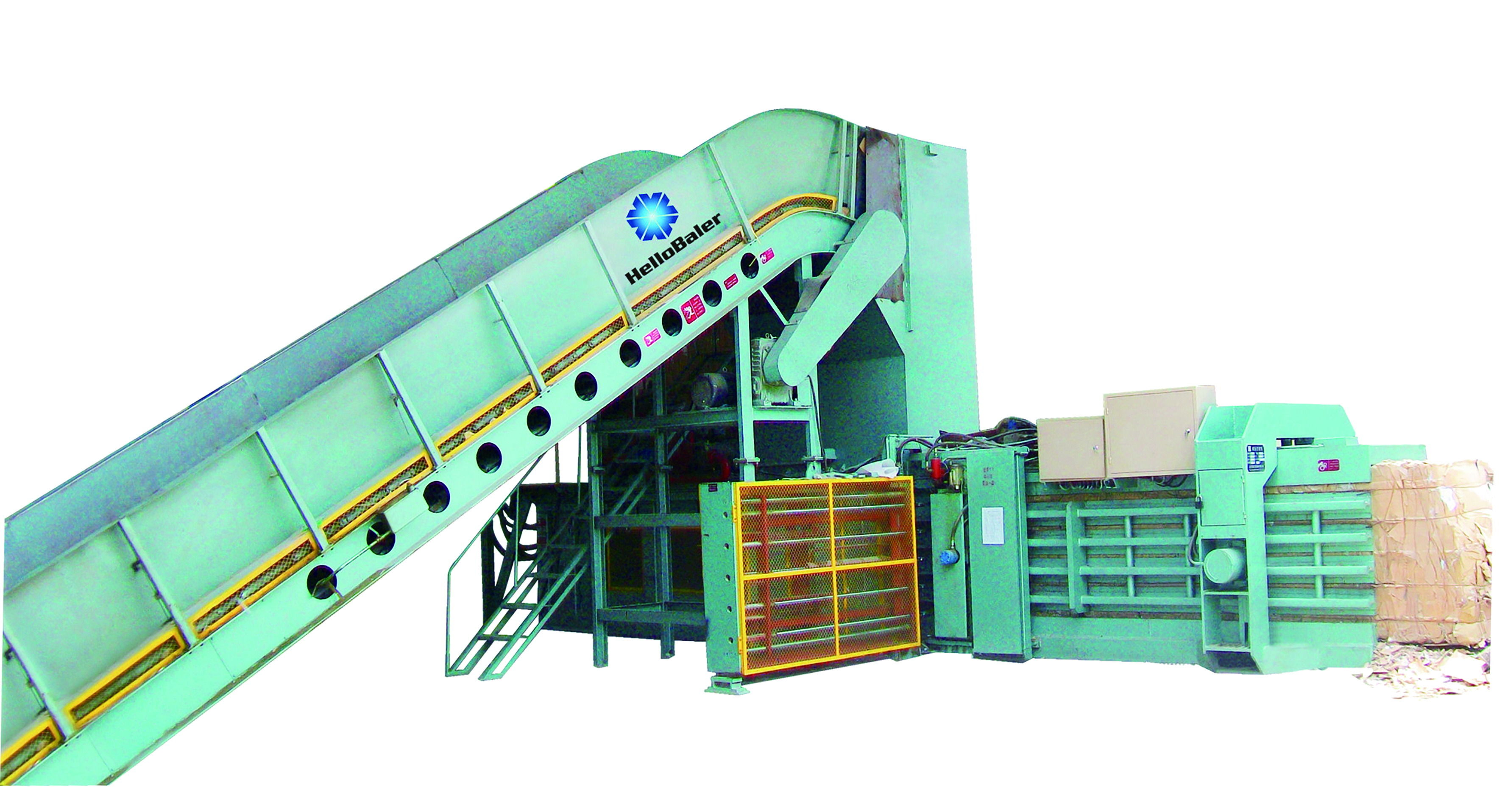 High Capacity Automatic Hydraulic Press Baler Machine for Waste Papers/OCC/Cartons/kraft Paper with Conveyor (HFA20-25)