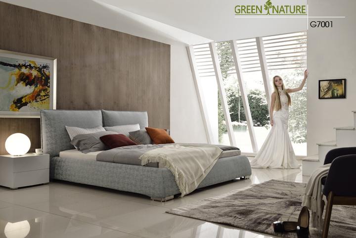 Casa ecológica moderno mobiliario tapizado de la cama blanda para ...