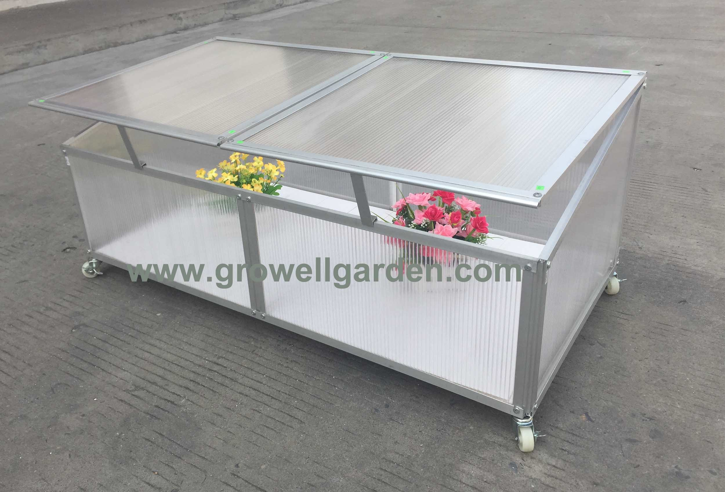 Cold Frame Greenhouse for Young Plants- with Wheels - China Cold ...