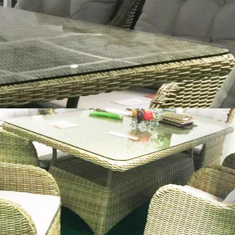 Muebles de mimbre Rattan juegos de mesa de comedor de mimbre con ...