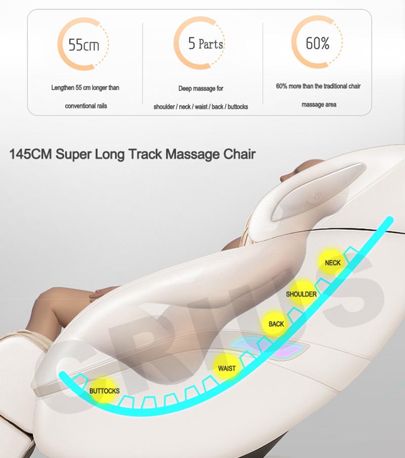 Ningde Crius C320L-13 Japanese Best Luxury Electric Body Massager Factory 4D Zero Gravity Full Body Foot Shiatsu Recliner 3D Office Massage Chair