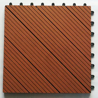 Instalar wpc diy tile madera pl stico f cil piso - Baldosa composite ...
