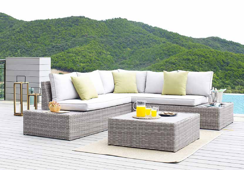3 Piece Outdoor Patio Furniture Set Pe, For Living 3 Piece Wicker Patio Sectional Set With Cushions