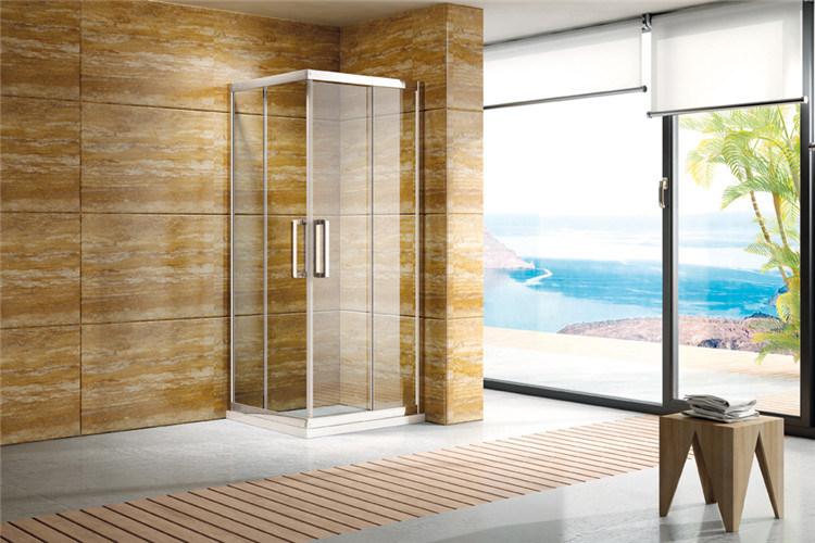 Gentil Project PT1142 6mm Toughened Glass Stainless Steel Frame Shower Enclosure