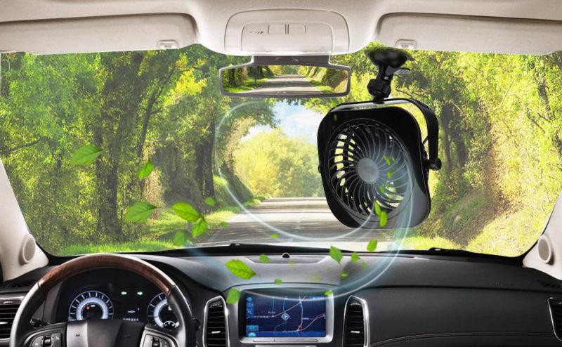 Voiture véhicule et le ventilateur de table portable puissant et