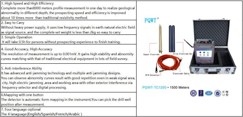 1500m de profondeur la recherche de l 39 eau souterraine le d tecteur quipements g ophysiques. Black Bedroom Furniture Sets. Home Design Ideas