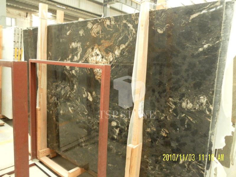 Granito negro cósmico para suelos de baldosa o azulejo/Adoquines ...