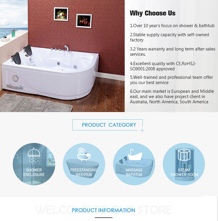 China Hydro Jacuzzi Hot Tub with Brass Components (TLP-642 Pneumatic ...