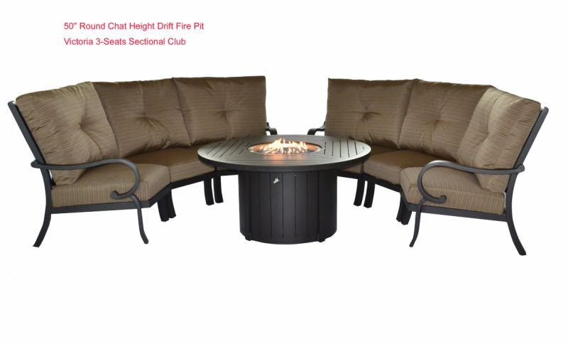 Patio al aire libre Muebles de aluminio Propan Gas y la naturaleza ...