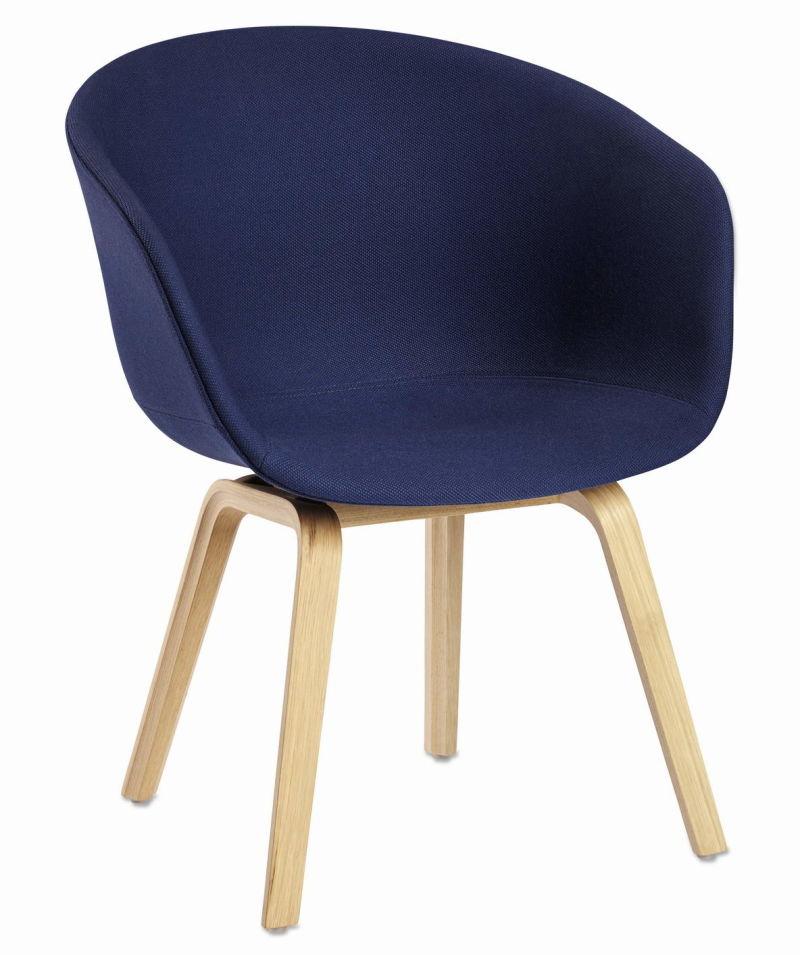 El tapizado Nerd PP silla con la pierna de Madera Natural – El ...