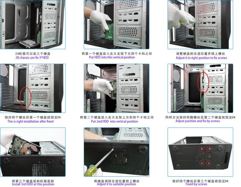 China Computer ATX Case, MID-Tower Compact Design - China